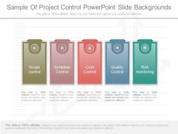 Custom Sample Of Project Control Powerpoint Slide Backgrounds