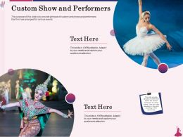 Custom Show And Performers Arranged Ppt Powerpoint Presentation Show Designs Download
