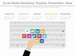 Custom Social Media Advertising Template Presentation Ideas