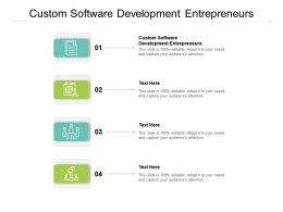 Custom Software Development Entrepreneurs Ppt Powerpoint Presentation Summary Slide Cpb