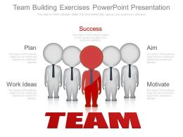 Custom Team Building Exercises Powerpoint Presentation