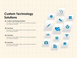 Custom Technology Solutions Ppt Powerpoint Presentation Portfolio Microsoft