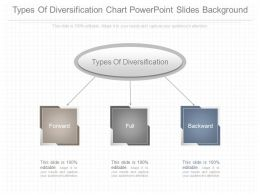 Custom Types Of Diversification Chart Powerpoint Slides Background