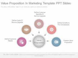 Custom Value Proposition In Marketing Template Ppt Slides