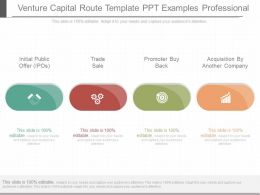 Custom Venture Capital Route Template Ppt Examples Professional
