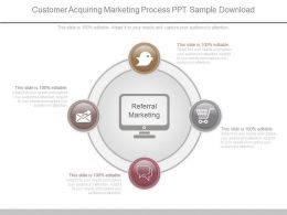 Customer Acquiring Marketing Process Ppt Sample Download