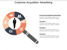 Customer Acquisition Advertising Ppt Powerpoint Presentation File Gridlines Cpb