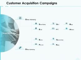 Customer Acquisition Campaigns Online Marketing Ppt Powerpoint Presentation Show Icons