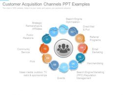 Customer Acquisition Channels Ppt Examples