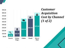 Customer Acquisition Cost By Channel Powerpoint Layout