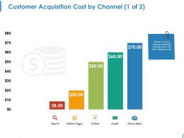Customer Acquisition Cost By Channel Powerpoint Shapes