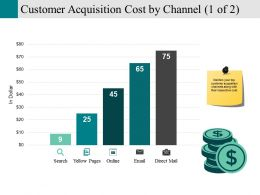 Customer Acquisition Cost By Channel Powerpoint Slide
