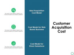 Customer Acquisition Cost Checklist Ppt Powerpoint Presentation Gallery Vector