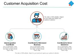 Customer Acquisition Cost Currency Big Data Powerpoint Presentation Summary