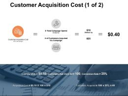 Customer Acquisition Cost Customers Acquired Ppt Powerpoint Presentation Summary Slides
