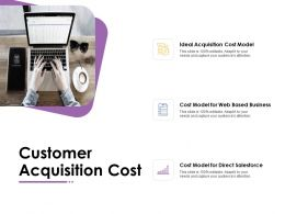 Customer Acquisition Cost Direct Salesforce Powerpoint Presentation Summary