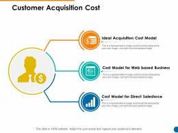 Customer Acquisition Cost Direct Salesforce Ppt Powerpoint Presentation Show Icon