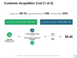 Customer Acquisition Cost Icons Ppt Powerpoint Presentation Icon Deck