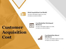 Customer Acquisition Cost Powerpoint Slide Background Designs