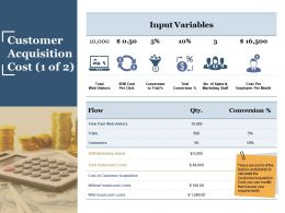 Customer Acquisition Cost Powerpoint Slide Ideas