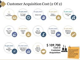 Customer Acquisition Cost Powerpoint Slide Information