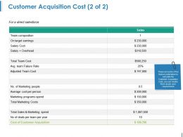 Customer Acquisition Cost Powerpoint Slide Inspiration