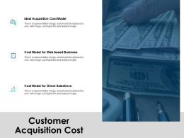 Customer Acquisition Cost Ppt Powerpoint Presentation Icon Design Ideas