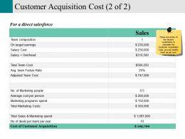 Customer Acquisition Cost Presentation Portfolio