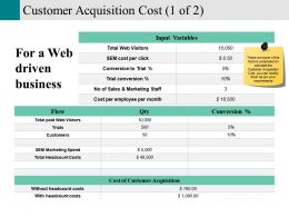 Customer Acquisition Cost Presentation Visuals
