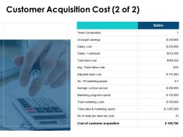 Customer Acquisition Cost Slide Team Composition Marketing Ppt Powerpoint Presentation