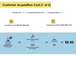 Customer Acquisition Cost Table Ppt Powerpoint Presentation Icon Backgrounds