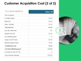 Customer Acquisition Cost Team Ppt Powerpoint Presentation Icon Diagrams