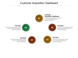 Customer Acquisition Dashboard Ppt Powerpoint Outline Graphics Design Cpb