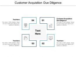 Customer Acquisition Due Diligence Ppt Powerpoint Presentation Slides Show Cpb