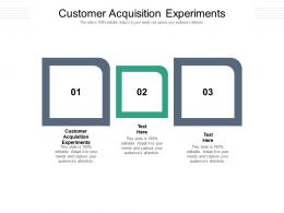 Customer Acquisition Experiments Ppt Powerpoint Presentation Professional Graphics Cpb