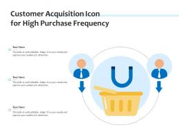Customer Acquisition Icon For High Purchase Frequency