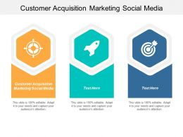 Customer Acquisition Marketing Social Media Ppt Powerpoint Presentation Gallery Templates Cpb