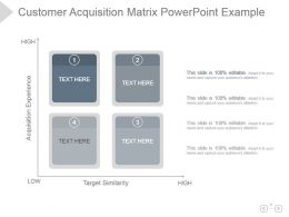 Customer Acquisition Matrix Powerpoint Example