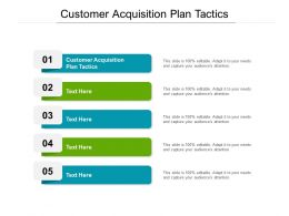 Customer Acquisition Plan Tactics Ppt Powerpoint Presentation Layouts Demonstration Cpb
