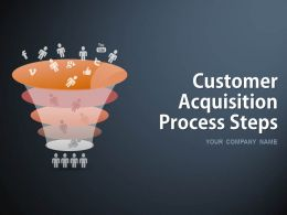Customer Acquisition Process Steps PowerPoint Presentation Slides Go To Market