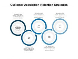 Customer Acquisition Retention Strategies Ppt Powerpoint Presentation Layouts Cpb
