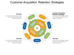 Customer Acquisition Retention Strategies Ppt Presentation Outline Examples Cpb