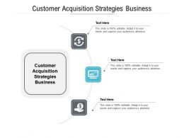 Customer Acquisition Strategies Business Ppt Powerpoint Presentation Pictures Introduction Cpb