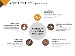 Customer Acquisition Strategies Good Ppt Example