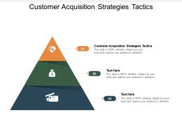 Customer Acquisition Strategies Tactics Ppt Powerpoint Presentation File Introduction Cpb
