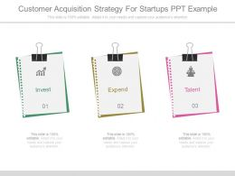 Customer Acquisition Strategy For Startups Ppt Example