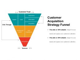 Customer Acquisition Strategy Funnel Powerpoint Slide Graphics