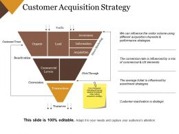 Customer Acquisition Strategy Powerpoint Slide Deck Samples