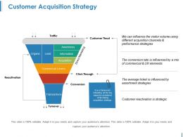 Customer Acquisition Strategy Powerpoint Slides