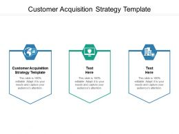 Customer Acquisition Strategy Template Ppt Powerpoint Presentation Ideas Maker Cpb
